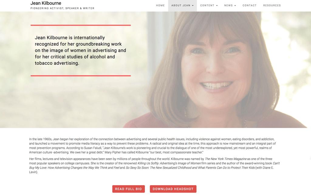 Jean Kilbourne Website by Julia Barry Productions