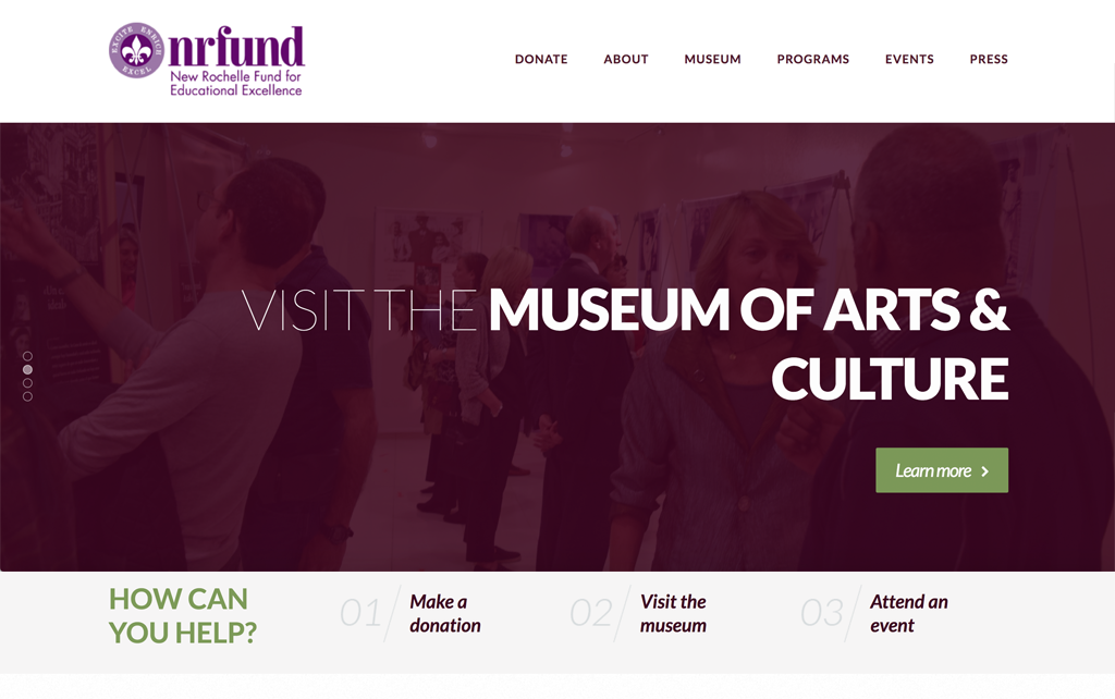 NRED Fund website by Julia Barry Productions