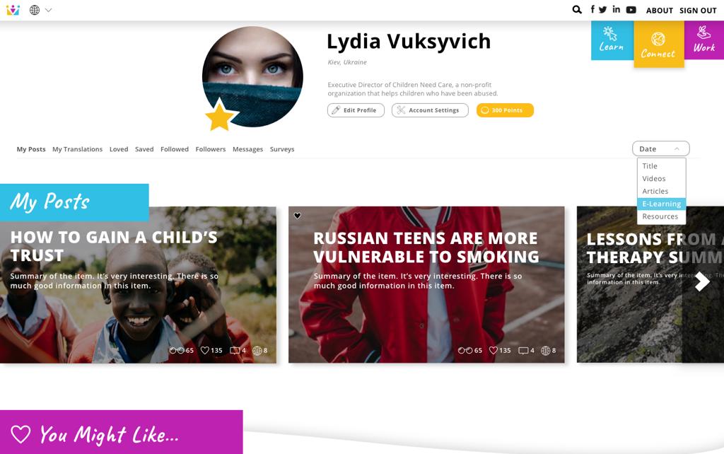ChildHub Slide 6 - Profile